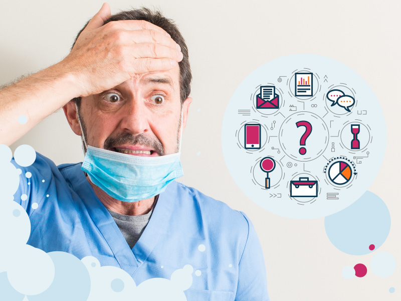 Dentista confuso dai tanti strumenti del Marketing per studi dentistici